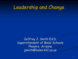 Leadership & Change PowerPoint