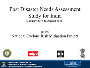 Presentation by NIDM on PDNA - National Disaster Management in