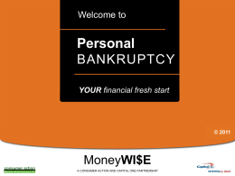Personal Bankruptcy - PowerPoint Training Slides