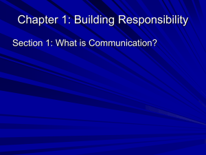 Chapter 1: Building Responsibility—ethics in