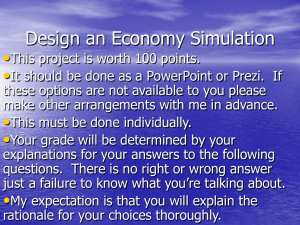 Design an Economy Simulation