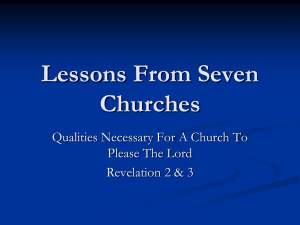 Lessons From Seven Churches - Fifth Street East Church of Christ