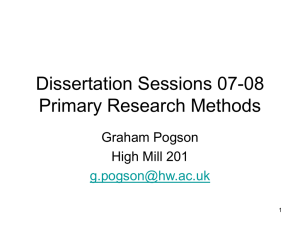 Primary Research Methods - 07-08