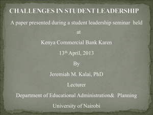 Leadership challenges-Karen
