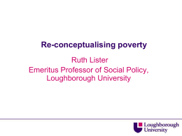 Re-conceptualising poverty