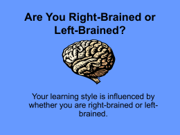 Are You Right-Brained or Left
