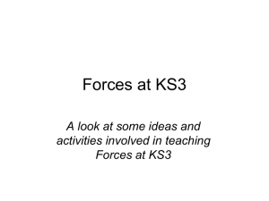 Forces at KS3