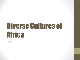 Diverse Cultures of Africa - McCullers` World Explorers