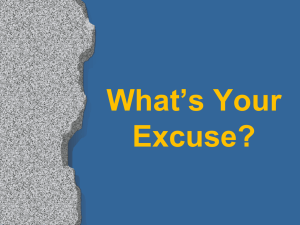 Excuses! - Rose Avenue Church of Christ