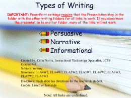Types of Writing - LCSS