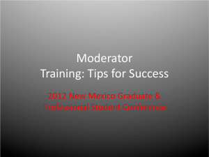 Moderator Training: Tips for Success