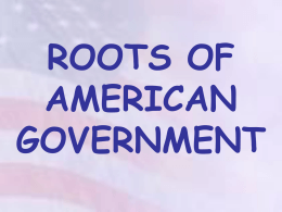 roots of american government - Williamstown Independent Schools