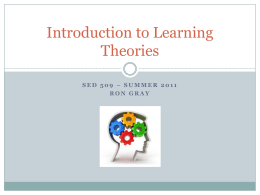 Introduction to Learning Theories