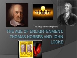 Thomas Hobbes and John Locke