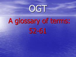 PPT - OGT Terms 52-61