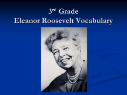 Eleanor Roosevelt Vocabulary