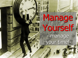 manage your time - CTR training and consultancy