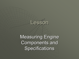 Measuring Engine Components and Specifications