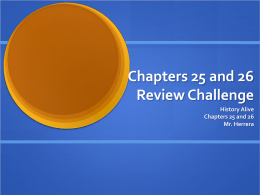 CH 25-26 Review Challenge