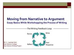 The Writing Feedback Loop: Where Writing Process Meets Writing