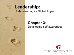 Leaderhip PowerPoint Chapter 3