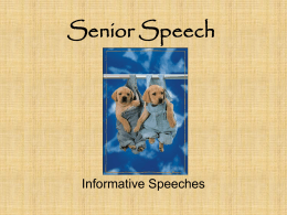 Informative Speech