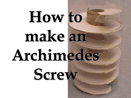 Make an Archimedes Screw