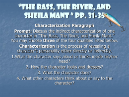 bronx masquerade character analysis directions your group ldquothe bass the river and sheila mant rdquo pp 31 ldquo