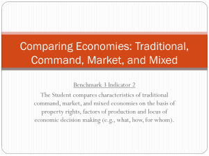 Comparing Economies: Traditional, Command