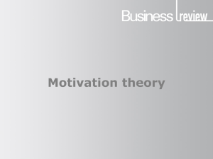 Motivation theory