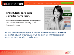 LearnSmart introduction