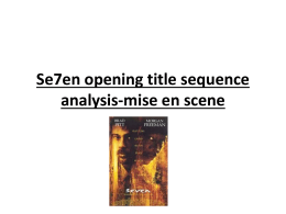 Se7en opening title sequence analysis-mise en scene