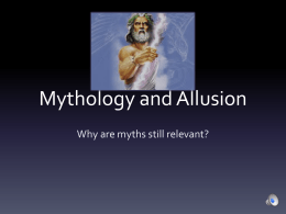 Mythology and Allusion