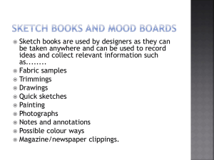 Sketch books and Mood Boards Textiles PPT
