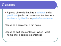 simple and compound sentences - ppt