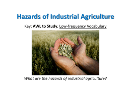 Chapter 2 Hazards of Industrial Agriculture