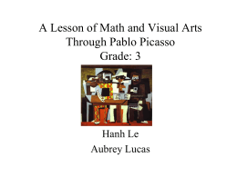 A Lesson of Math and Visual Arts Through Pablo Picasso