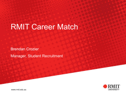 RMIT Career Match