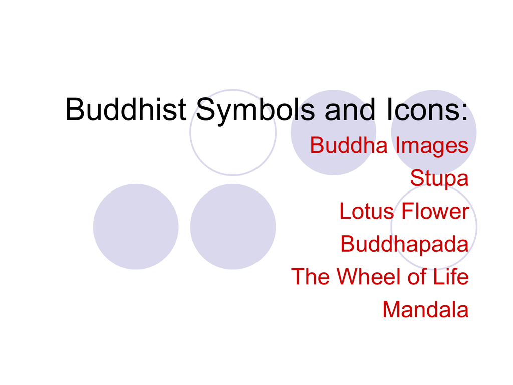 Ppt Buddhist Symbols And Icons