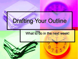 Drafting Your Research Paper Outline
