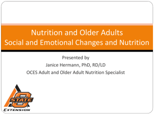 Nutrition and Older Adults Social and Emotional Changes and