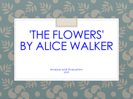 """the flowers loss of innocence essay In the short story """"the flowers"""" by alice walker, myop's character proves that everyone reaches a point of change in innocence whether it is by choice or in growth, all ways require obstacles and new things that one self hasn't been exposed to before."""