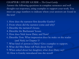 The Great Gatsby Literary Devices Worksheet Ch 1 Exemplar