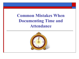 Documenting Time and Attendance