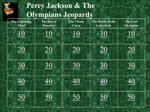 Percy Jackson Jeopardy