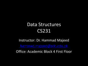 Data Structures CS231