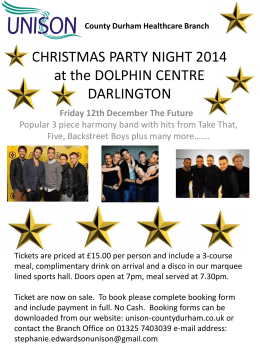 Christmas Party Night 2014 - Unison County Durham Healthcare