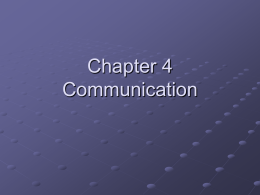 1.4 Direction of Communication