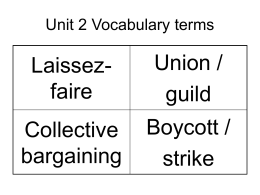 Unit 2 Vocabulary terms sem 1