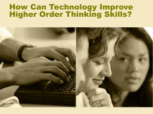 How Can Technology Improve Higher Order Thinking Skills